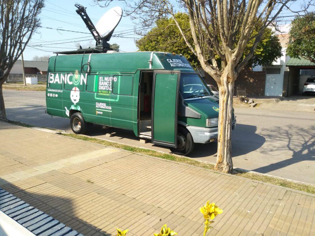 Está instalada la unidad móvil del Banco Córdoba