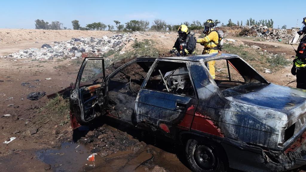 Se incendió un vehículo