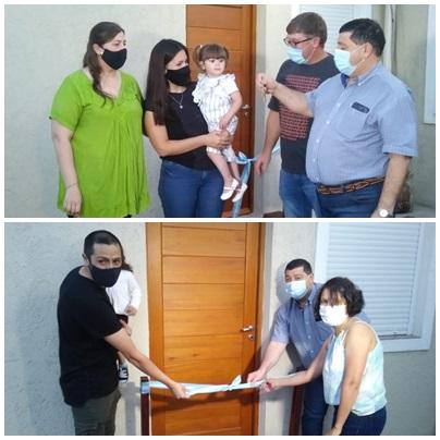 Anahí Lasagna y Mauro Markievich recibieron su vivienda