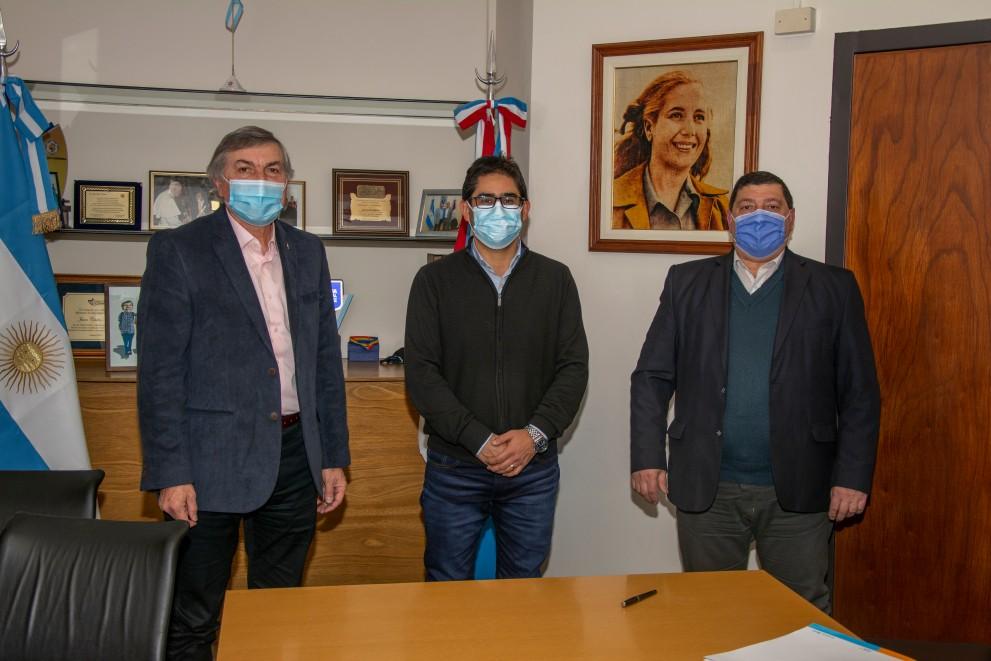 El intendente Riva se reunió con los Ministros Cardozo y Massei
